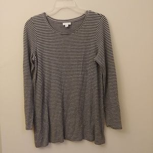J.Jill Size Small Cotton Over size Striped T-Shirt